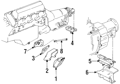 ENGINE & TRANS MOUNTING for 1990 Chevrolet C1500 (454 SS)