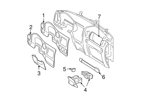 INSTRUMENT PANEL COMPONENTS for 2006 Ford Expedition