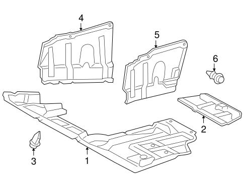 Genuine OEM Splash Shields Parts for 2009 Toyota RAV4