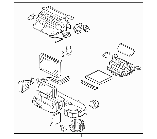 2008-2013 Mitsubishi Lancer AC & Heater Assembly 7800A275