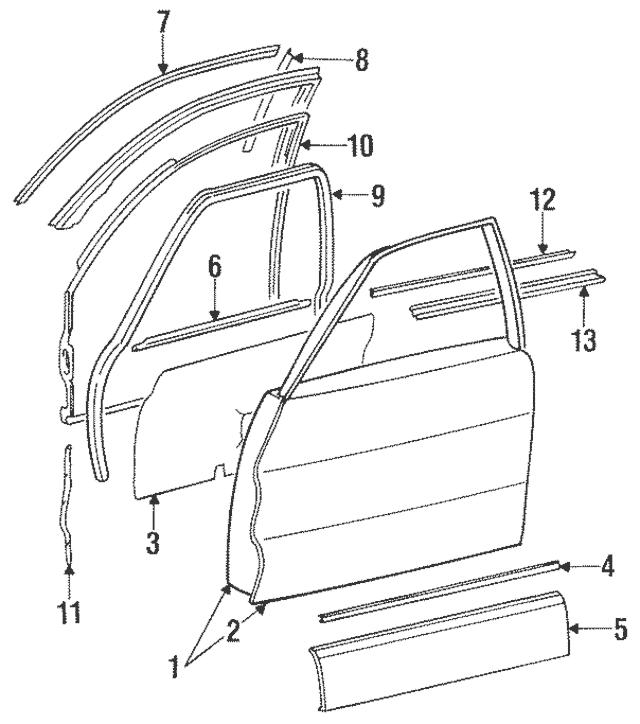 Mercedes-Benz OEM Belt Weather-Strip Part# 126-725-03-65