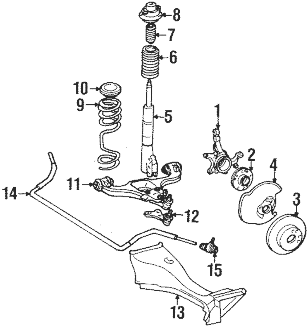 Genuine Mercedes-Benz Stabilizer Bar Bearing 124-320-03-73