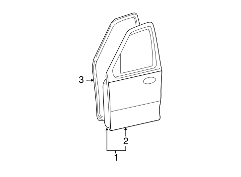 DOOR & COMPONENTS for 2011 Ford Escape