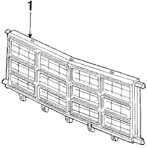 GRILLE & COMPONENTS for 1990 Dodge B350