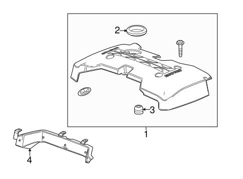 OEM 2013 Chevrolet Malibu Engine Appearance Cover Parts