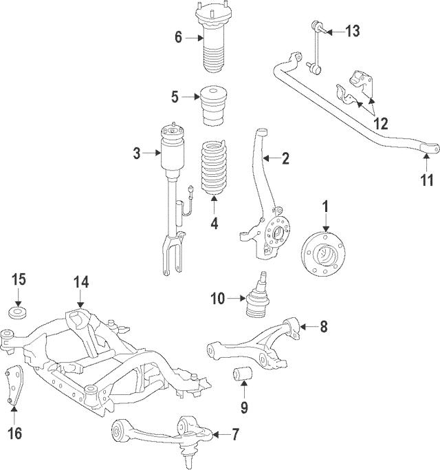 2014-2018 Mercedes-Benz Stabilizer Bar 166-320-34-11