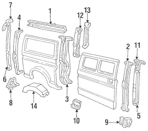 Inner Structure for 1986 Ford E-350 Econoline Club Wagon