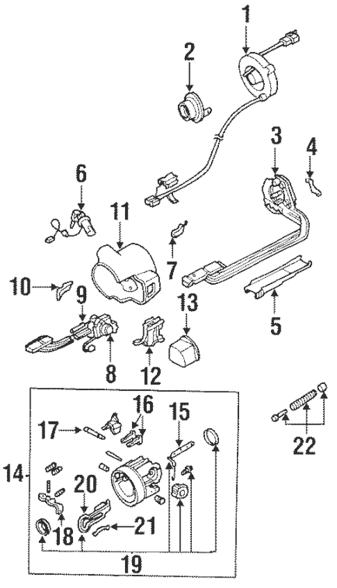 OEM 1994 Pontiac Firebird Housing & Components Parts