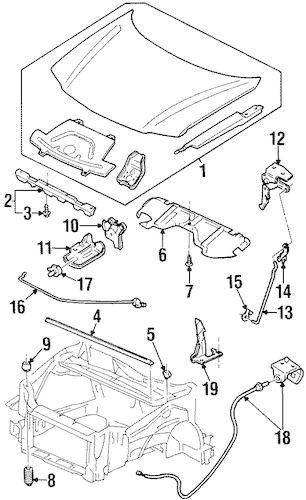 OEM HOOD & COMPONENTS for 2003 Oldsmobile Silhouette