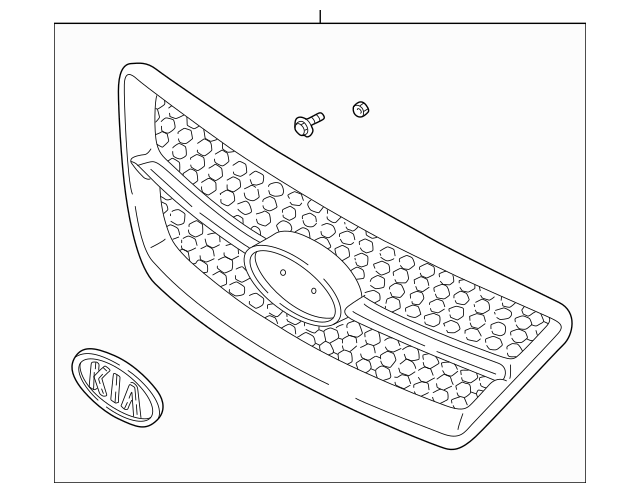 Genuine OEM Grille Assembly Part# 86350-3E510 Fits 2007