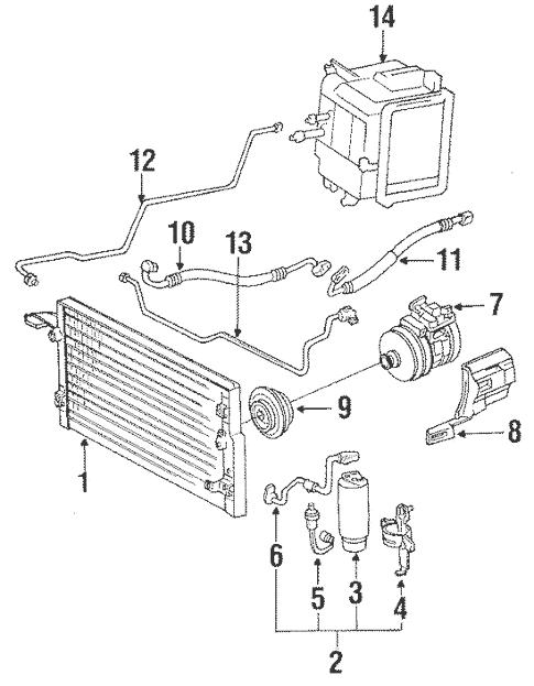 Condenser, Compressor & Lines for 1994 Toyota 4Runner