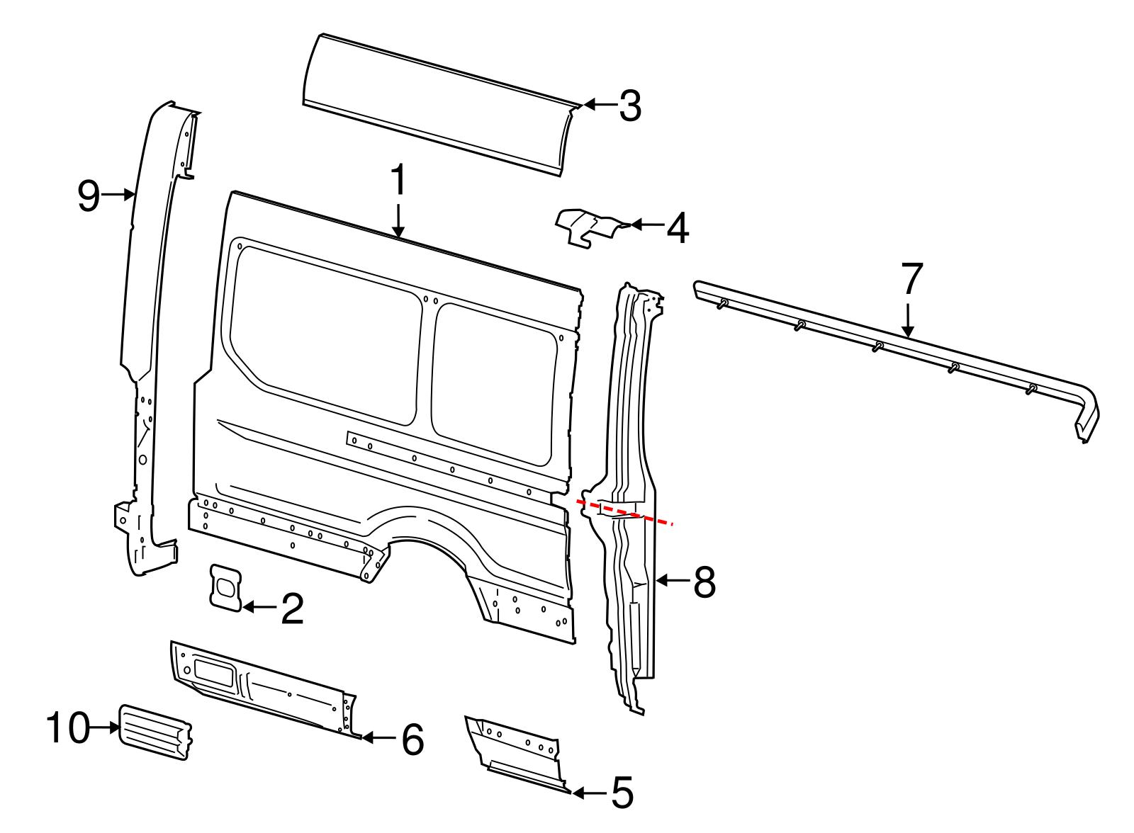 Genuine Ford Vent 7g9z B62 A