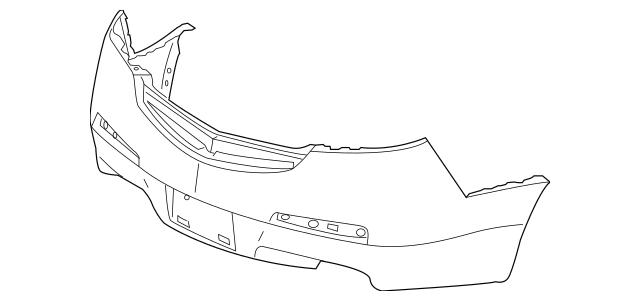 2009-2011 Acura TL SEDAN Face, Rear Bumper (DOT) 04715-TK4