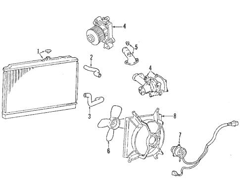Radiator & Components for 1997 Mitsubishi Mirage