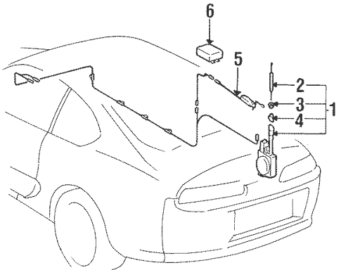 Genuine OEM Antenna & Radio Parts for 1995 Toyota Supra