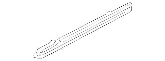 1991-2005 Acura NSX COUPE Garnish C, R *NH1L* (Black