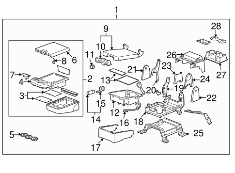OEM 2011 Chevrolet Suburban 1500 Front Seat Components