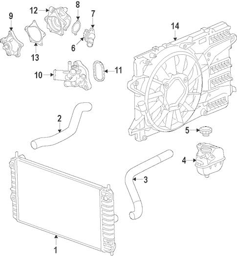 Radiator & Components for 2016 Chevrolet Camaro