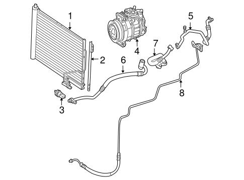 Condenser, Compressor & Lines for 2005 Mercedes-Benz SLK