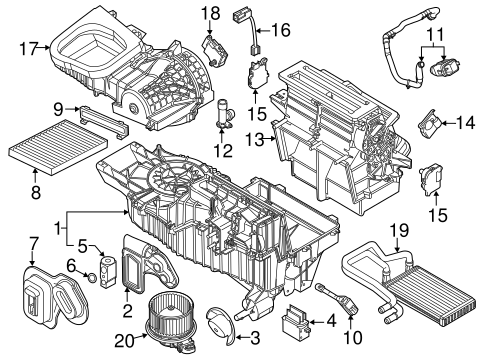 Condenser, Compressor & Lines for 2016 Ford Explorer