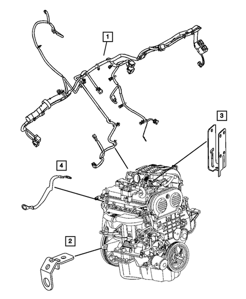 Wiring-Engine & Related Parts for 2005 Jeep Liberty