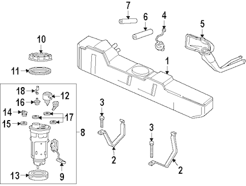 FUEL SYSTEM COMPONENTS for 1998 Dodge Ram 2500
