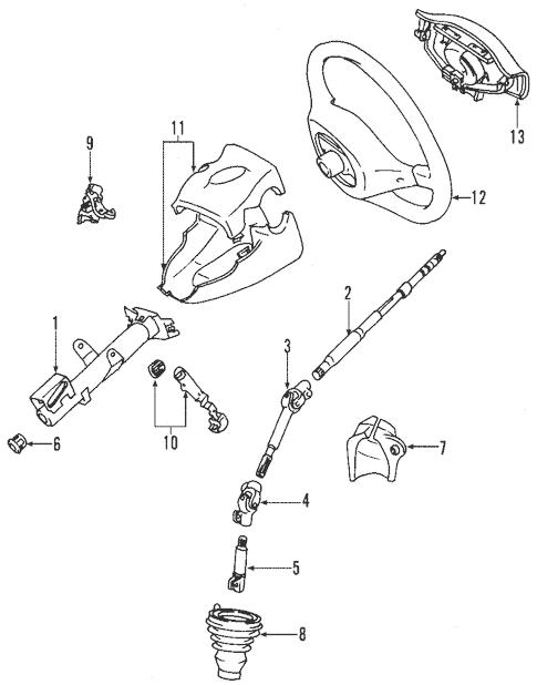 Genuine OEM Steering Column Parts for 2000 Toyota Echo