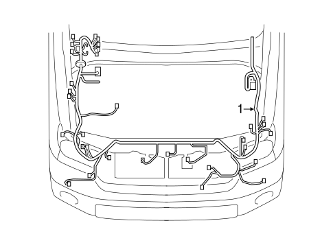 Genuine OEM Wiring Harness Parts for 2010 Toyota Tundra