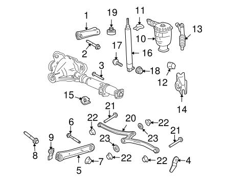 OEM 2004 Ford Crown Victoria Rear Suspension Parts
