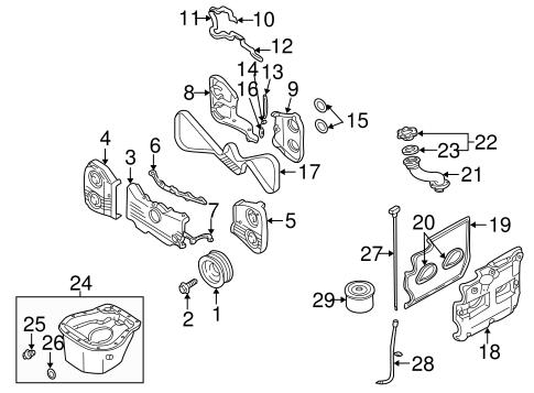 ENGINE PARTS for 2006 Subaru Impreza