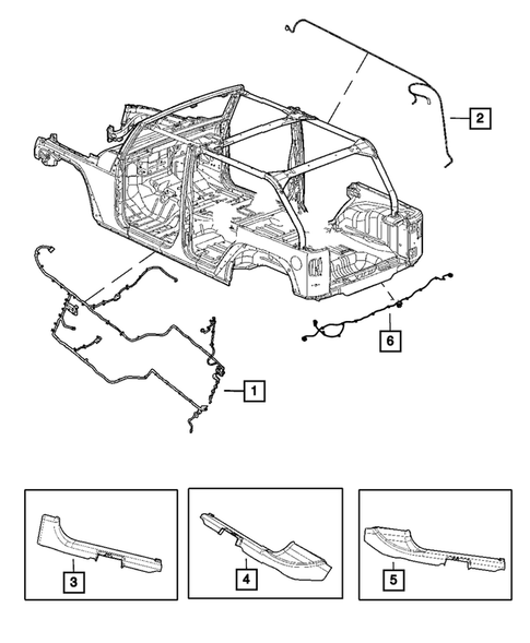 Wiring-Body and Accessories for 2013 Jeep Wrangler