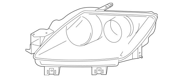 2007-2009 Mazda CX-7 Headlamp Assembly EG22-51-031N