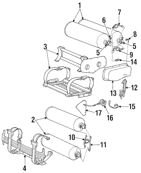FUEL SYSTEM COMPONENTS for 1996 Ford Crown Victoria