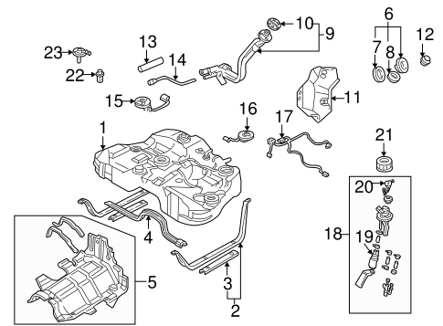 Fuel System Components for 2000 Mazda Millenia