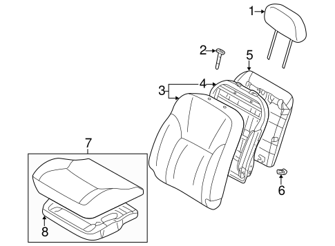 Front Seat Components for 2001 Mitsubishi Eclipse