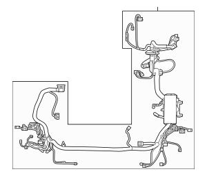 2018-2019 Lincoln MKC Wire Harness JJ7Z-14290-CA