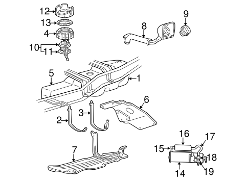 Fuel System Components for 2001 Mazda B3000
