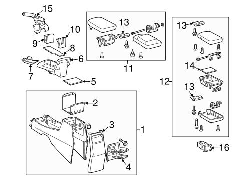 Genuine OEM Parking Brake Parts for 2009 Toyota Matrix