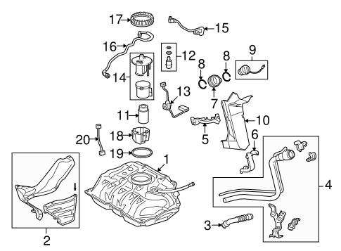 Genuine OEM Fuel System Components Parts for 2008 Scion xD