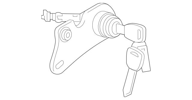 Genuine 2015-2017 Honda FIT 5-DOOR Cylinder, L Door 72185
