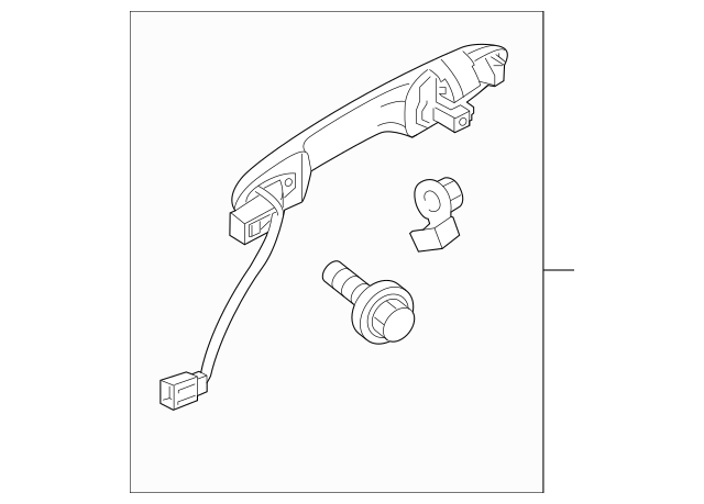 Genuine 2015-2019 Honda FIT 5-DOOR Handle Assembly, R