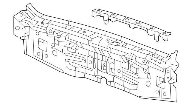2011-2014 Acura TSX 5-DOOR Panel, Rear 66100-TL7-A00ZZ