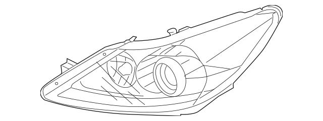 2012-2014 Hyundai Genesis Lens & Housing 92103-3M300