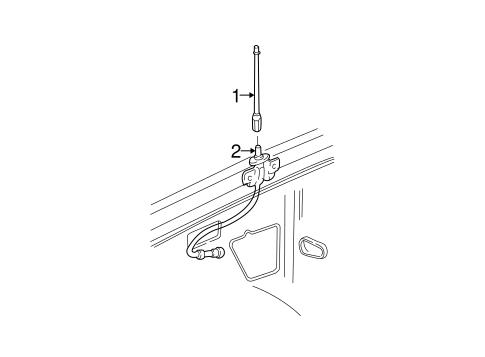 OEM 2003 Chevrolet Trailblazer EXT Antenna & Radio Parts
