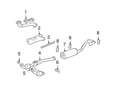 OEM 2004 GMC Savana 2500 Exhaust Manifold Parts