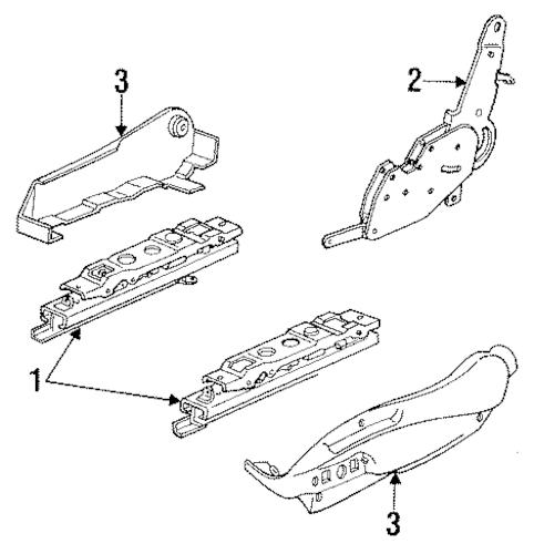OEM 1993 Chevrolet Lumina Tracks & Components Parts
