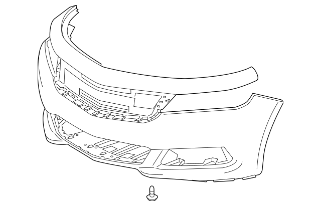 Bumper Cover for 2015 Chevrolet Impala|22990032 : GM Parts