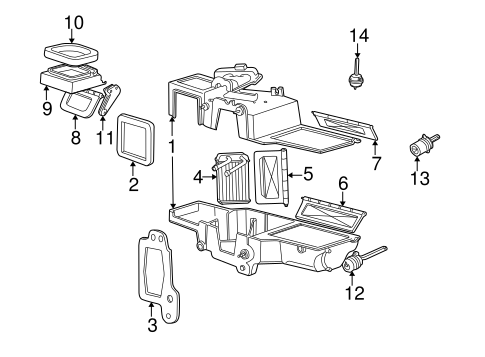 Evaporator & Heater Components for 1995 Ford Explorer
