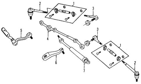 STEERING GEAR & LINKAGE for 2000 Chevrolet Blazer