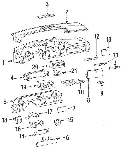 OEM Instrument Panel for 1992 Chevrolet Caprice